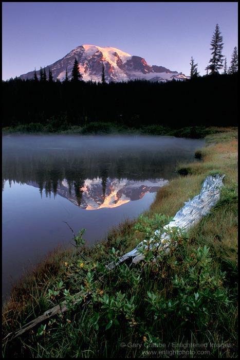 Image: Mount Rainier reflected in Reflection Pond, Mount Rainier National Park, Washington