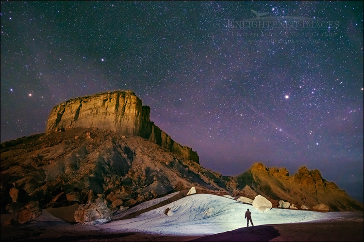 Image: Alone with the stars and the desert landscape, Glen Canyon National Recreation Area, Utah