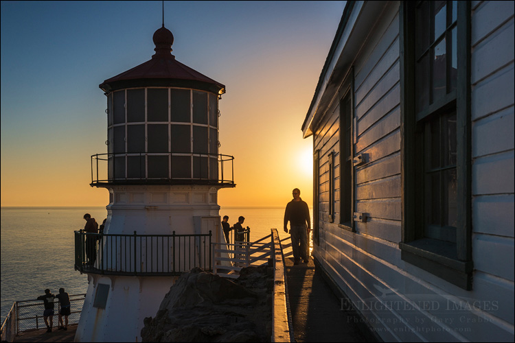 Image: Tourists at the Point Reyes Light Station, Point Reyes National Seashore, California