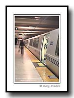 Bart Train station and passenger