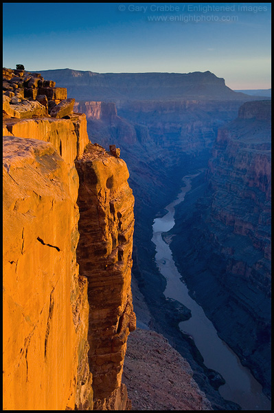 Picture Sheer Cliff Over Colorado River Toroweap Overlook