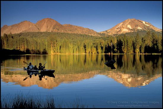 Picture: Family Kayaking in Manzanita Lake, Lassen Volcanic National ...