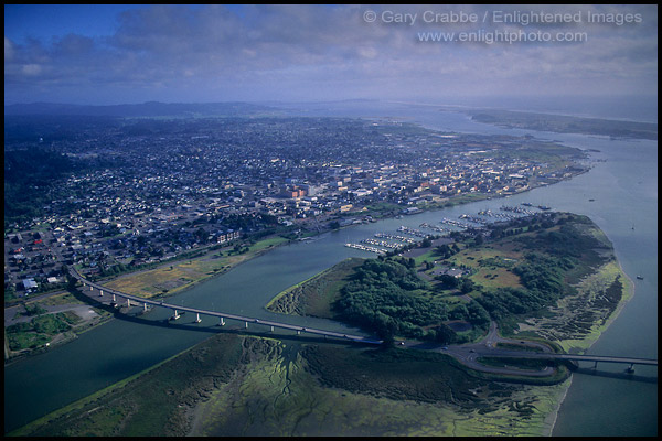 Picture Aerial Over Eureka Humboldt County California