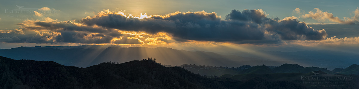 Sunset from Mount Diablo – A quick tip for shooting panoramas
