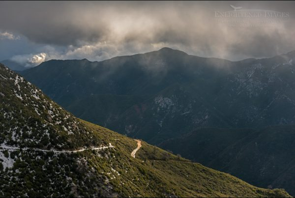 Photo: Dark storm clouds over the Los Padres National Forest, Monterey County, California
