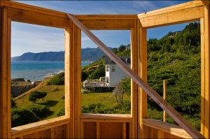 New home construction in Shelter Cove, on the Lost Coast, Humboldt County, California