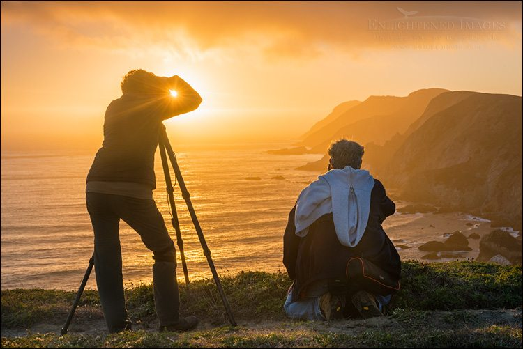 Photo: Photographers shooting the sunset along the Point Reyes Headlands, Point Reyes National Seashore, Marin County, California