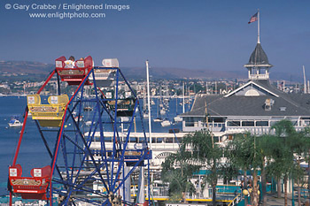 Ferris Wheel And Promenade On Waterfront At Balboa Island Funzone Amut Park Newport Beach