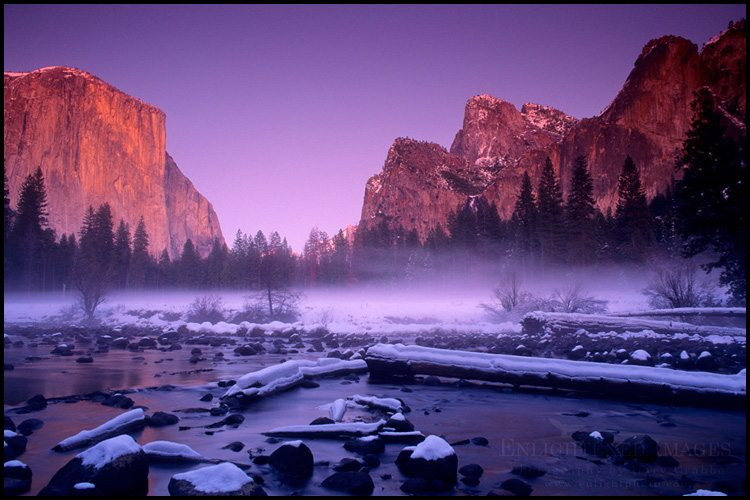 Merced River Gates of Yosemite Valley in Winter - Gary